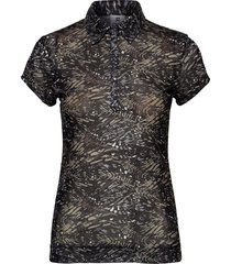 luna mesh cap/s polo shirt t-shirts & tops polos svart daily sports