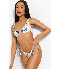 citroenen bikini top met beugel, white
