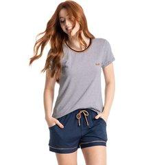 pijama curto com bolso stripes colors