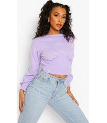 fijn gebreide korset trui, lilac