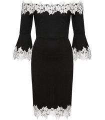 abito con spalle scoperte e pizzo (nero) - bodyflirt boutique