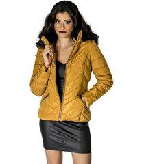 jaqueta capuz pelo handbook feminina