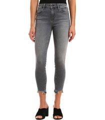 women's mavi jeans tess high waist destroyed released hem ankle skinny jeans
