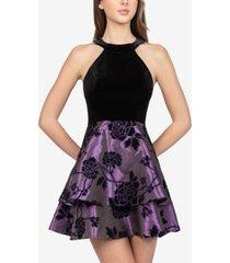 b darlin juniors' velvet flocked a-line dress