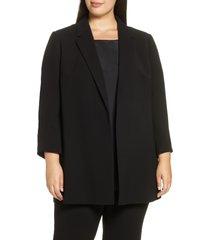 plus size women's lafayette 148 new york cole jacket, size 3x - black