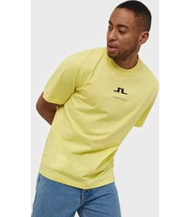 j lindeberg dale-distinct cotton t-shirts & linnen yellow