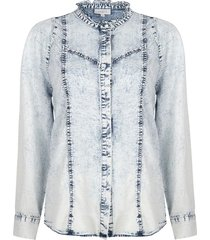 denim blouse covey  blauw