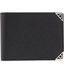 men's salvatore ferragamo gancino leather bifold wallet - black