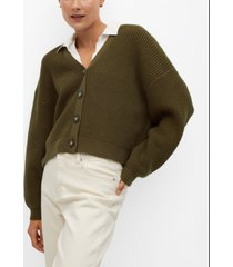 mango women's cotton-blend cardigan