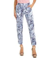 hue zebra-print temp tech trousers, extended sizes