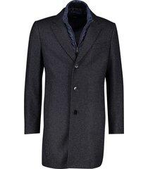 hugo boss jas lang donkerblauw geprint