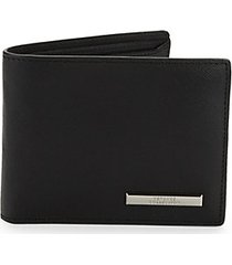 foldover saffiano leather wallet