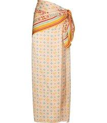 y/project high-rise wraparound skirt - neutrals