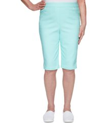 alfred dunner spring lake pull-on bermuda shorts