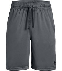 pantaloneta under armour para niño prototype wordmark negro-gris