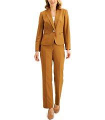 le suit petite tonal-stripe pantsuit