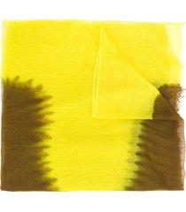 suzusan long tie-dye print scarf - brown