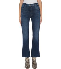 'the hustler' frayed cuff flared jeans