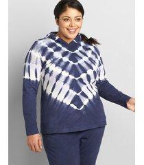 lane bryant women's livi french terry hoodie - tie-dye 10/12 night sky