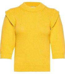 chunky cotton kaitlyn stickad tröja gul mads nørgaard