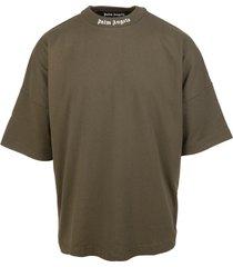 man military green double logo t-shirt
