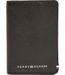 tommy hilfiger men's flag card wallet black -