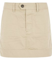 dsquared2 short zipped buttoned skirt