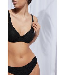 calzedonia balconette swimsuit top audrey woman black size 4