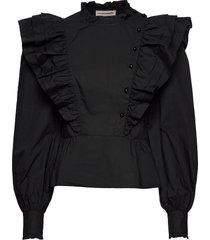 dafina blouse lange mouwen zwart custommade