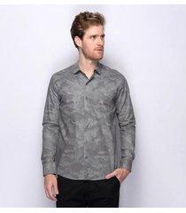 camisa social slim teodoro camuflado 100 % algodão masculina