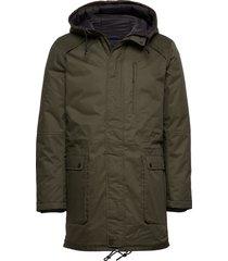 slhvincent jacket b parka jas groen selected homme