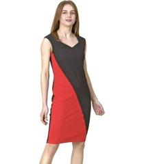 vestido jumper diagonal rojo bous