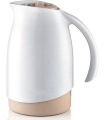 garrafa bule térmico de plástico branca sanremo 700ml