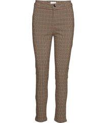 new carma check 7/8 pants pantalon met rechte pijpen bruin minus
