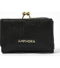 billetera negra amphora pelli