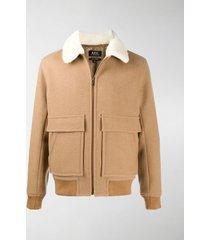 a.p.c. pouch-pocket zipped jacket
