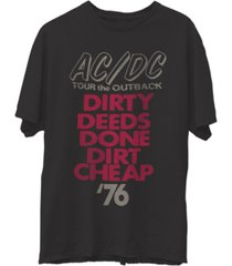 junk food men's ac/dc short sleeve tee shirt