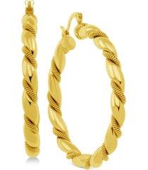 essentials twisted hoop earrings