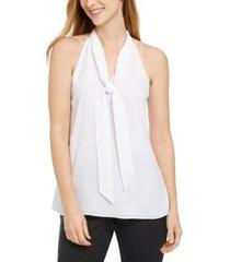 calvin klein x-fit slim-fit sleeveless tie-neck top