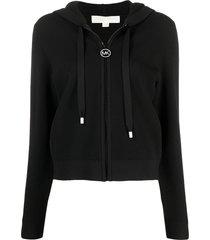 michael michael kors nylon hoodie with logo