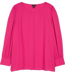 plus size women's halogen long sleeve blouse, size 1x - pink
