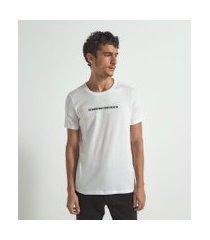 camiseta com estampa eu sabia que você existia | felipe morozini | branco | g
