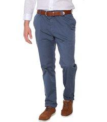 pantalon azul claro preppy chino 98% algodón 2% elastano bota 19