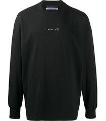 1017 alyx 9sm logo print sweatshirt - black