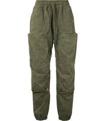 readymade oversized pocket trousers - green