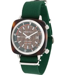 briston watches clubmaster diver yachting watch - green