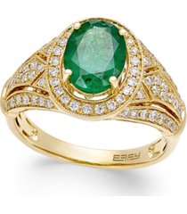 brasilica by effy emerald (1-1/2 ct. t.w.) and diamond (1/2 ct. t.w.) ring in 14k gold