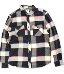 element men's tacoma 3c plaid flannel shirt