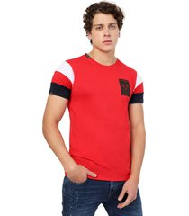 camiseta  combinada en mangas rojo manpotsherd francia