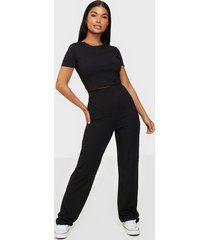 nly one rib crop set jumpsuits